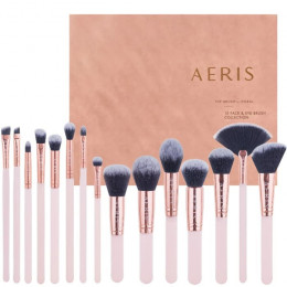 Aeris CORAL 15 Face & Eye Brush set