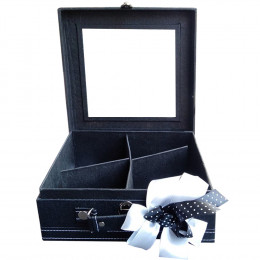 Makeupuccino Beauty Bag Square Black
