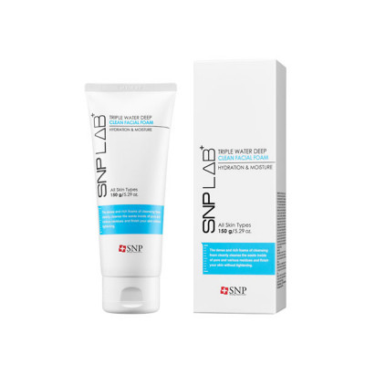 SNP LAB+ Triple Water Deep Clean Facial Foam