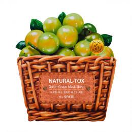 The Saem Natural Tox Green Grape Sheet Mask