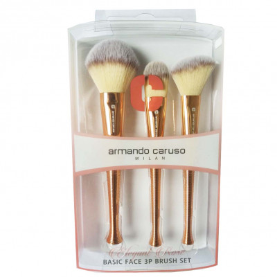 Armando Caruso Elegant Rose Basic Face Brush Set